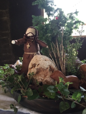 One of my favorites: A St. Francis Nature Table